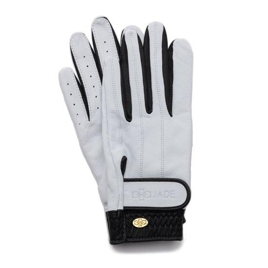 Elegant Golf Glove【両手】white-black
