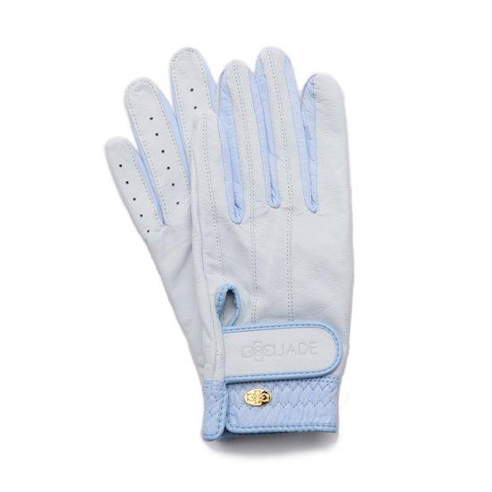 Elegant Golf Glove【両手】white-celeste