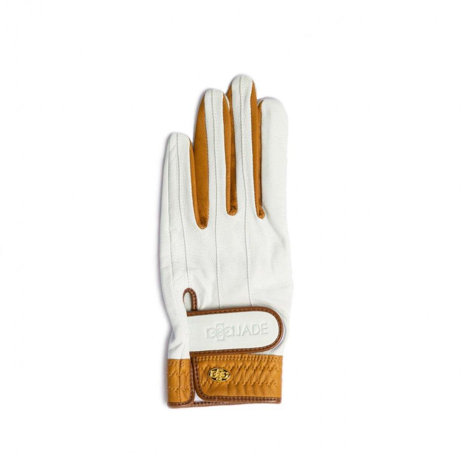Elegant Golf Glove【左手】white-brandy