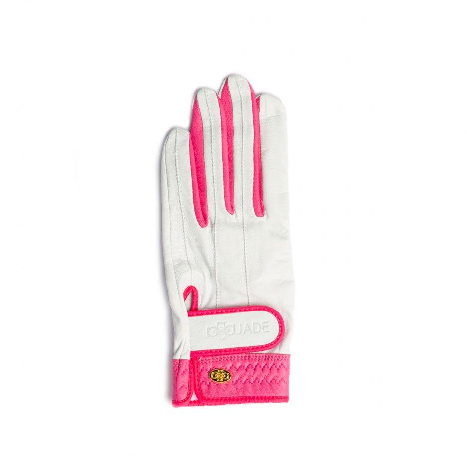 Elegant Golf Glove【左手】white-fuchsia
