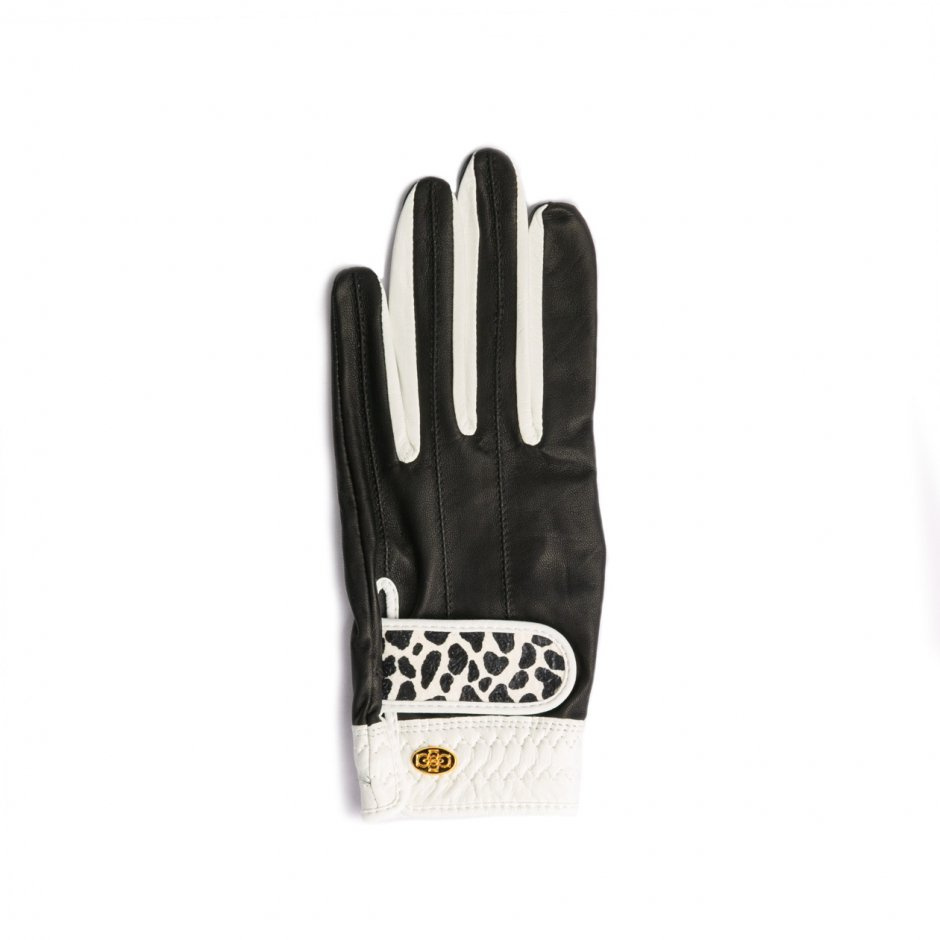 Elegant Golf Glove【左手】black-white-dalmatian