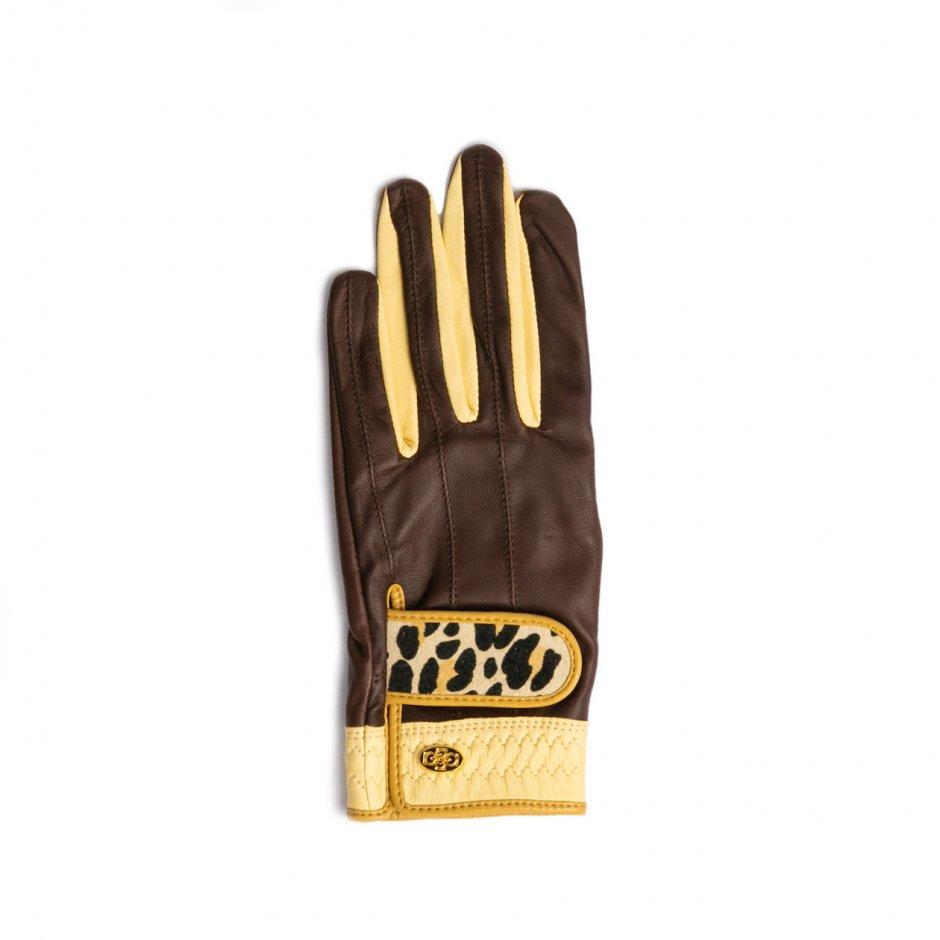 Elegant Golf Glove【左手】choco-beige-leopard