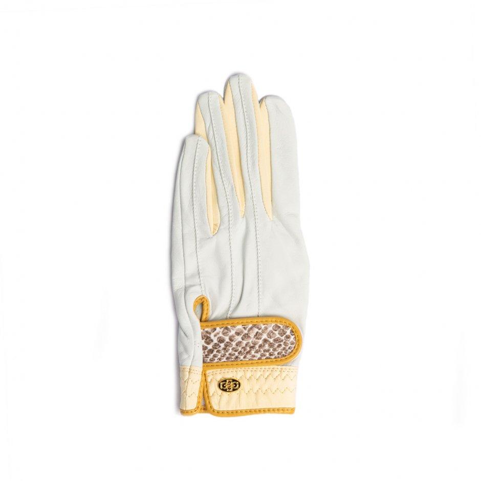 Elegant Golf Glove【左手】 white-ivory-python