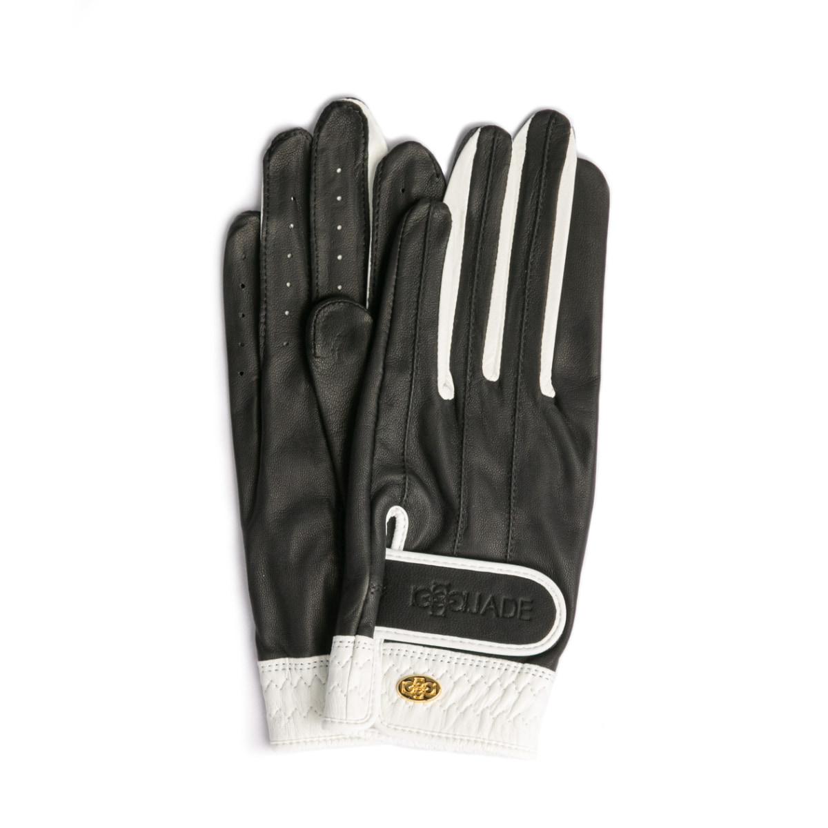 Elegant Golf Glove【両手】black-white