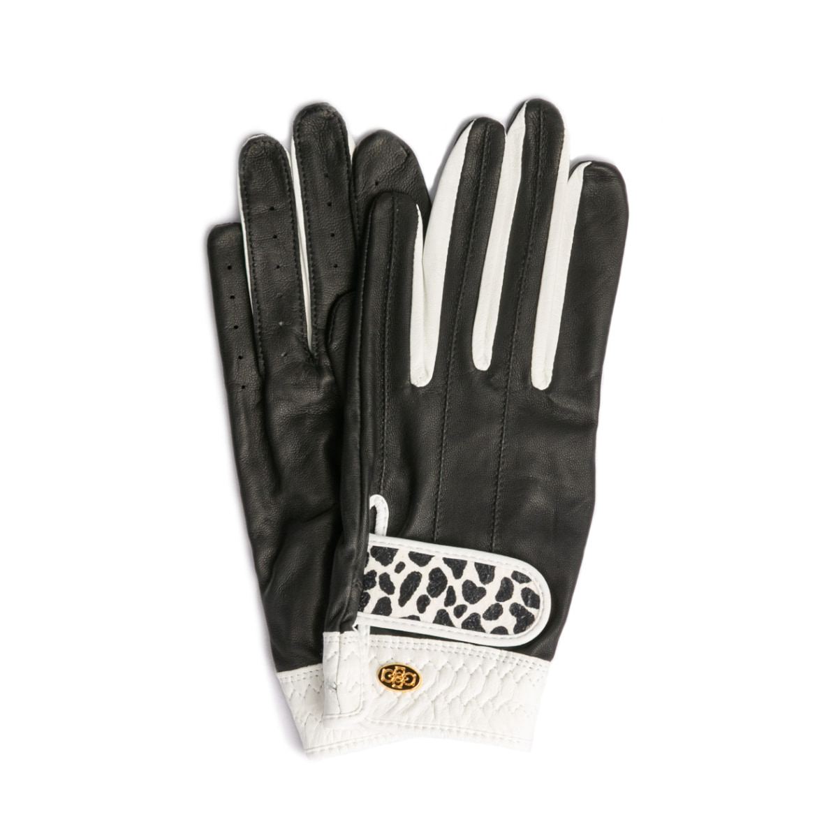 Elegant Golf Glove【両手】black-white-dalmatian
