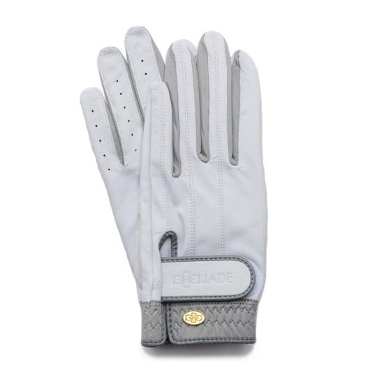 Elegant Golf Glove【両手】white-grey