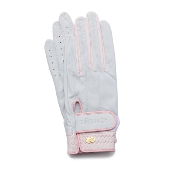 Elegant Golf Glove【両手】white-pink