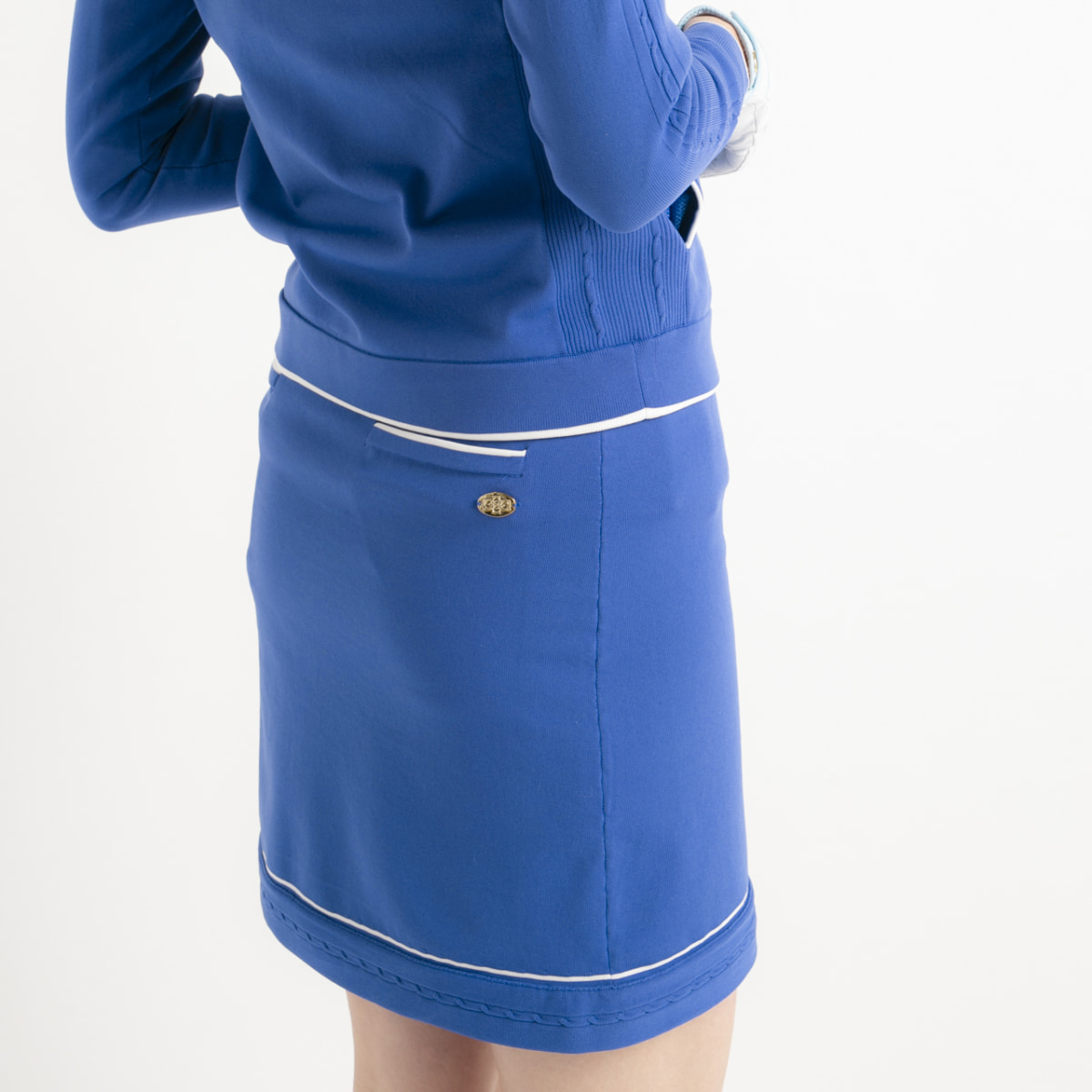 【SALE】Skirt – Water Resistance ~撥水ニットスカート~ blue-white